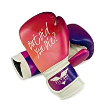 Victory Martial Arts Women's Cardio Kickboxing Boxing Gloves/Punching Bag Gloves (10 oz, But Did You Die)