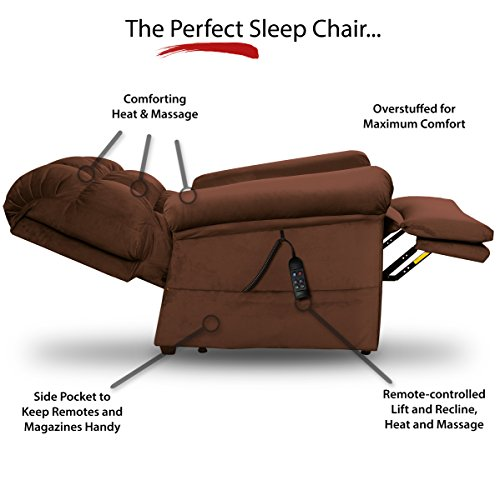 Perfect Sleep Chair - Lift Chair & Medical Recliner – DuraLux II Microfiber - Chocolate (Brown)