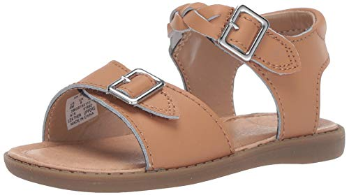 Stride Rite Naomi Girl's Sandal, TAN, 5 W US Toddler (5w Girls Rite Stride)