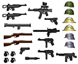 world war two weapons - BrickArms World War II Weapon Pack (24 Pieces) - LEGO Compatible Weapons [Toy]