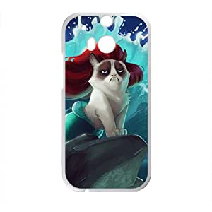 Red hair cat mermaid Cell Phone Case for HTC One M8