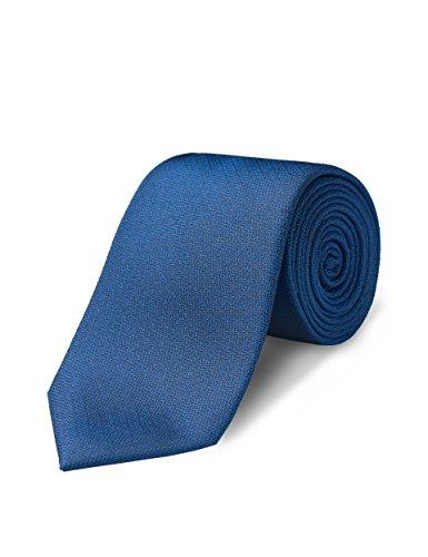 ORIGIN TIES Men's Fashion 100% Silk Solid 3 inches Standard Tie Blue