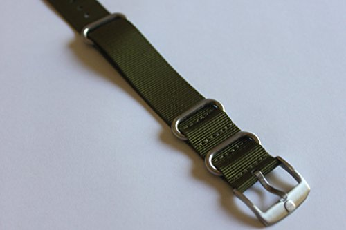 Genuine OEM Luminox 22mm NATO/ Zulu Strap Band - Military Green Fit Luminox 3050 3950 SEAL NAVY EVO COLORMARK FN.3900.60.2 by Luminox (Image #3)