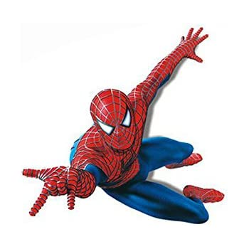 Home Decor Stick Giant Wall Decal 3D View Art Wallpaper Mural (Spider-Man)