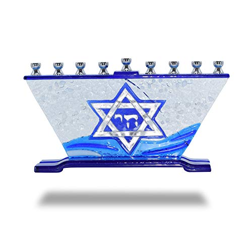 Ner-Mitzvah-Glass-Candle-Menorah-Fits-All-Standard-Chanukah-Candles-Handcrafted-Star-of-David-Glass-Painted-Hanukkah-Menorah