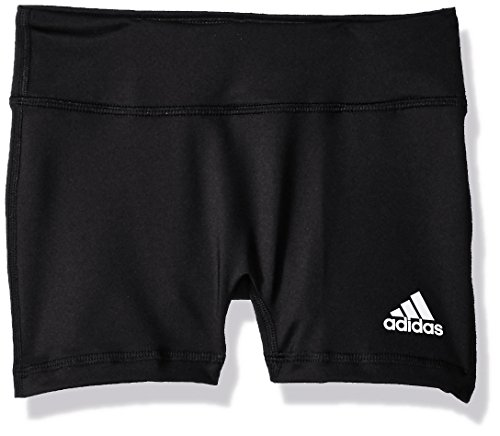 (adidas Youth 4 Inch Short Tight, Black, Medium)