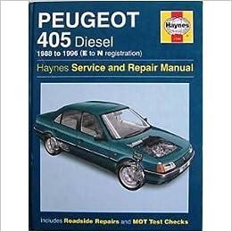 peugeot 405 diesel service and repair manual haynes service and