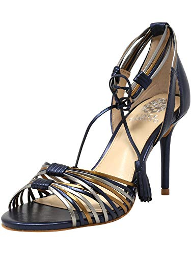 Vince Camuto Women's Stellima Silver/Navy Gold Metallic Mestico Pump - 8.5M