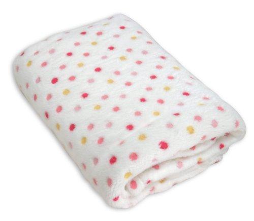 Fleece Polka Dot Blanket (Stephan Baby Ultra Soft Plush Fleece Blanket, Pink Pastel Polka Dots)