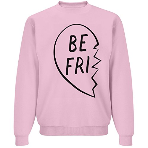 Heart Crewneck Sweatshirt - Best Friends Matching Broken Heart: Unisex Jerzees Crewneck Sweatshirt