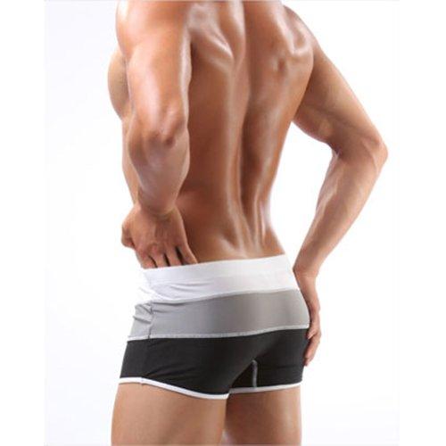 Men's Swimwear Fashion Stripe Pattern Swim Tights Color Swim Trunks (color 1, M: waist: 66.6-73.3cm)
