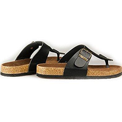 Schuhe Sandalen Neue Schuhe Maenner Korken Frauen Flip und Sommer 6 TOOGOO flache Unisex schwarz laessig Flops Pantoffeln R Groesse ZfwFHB