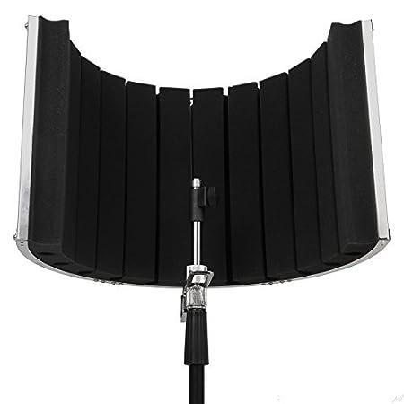 Panel de absorción acústica portátil para grabación vocal VRI-20 de LyxPro - Soporte para pie de micrófono: Amazon.es: Instrumentos musicales