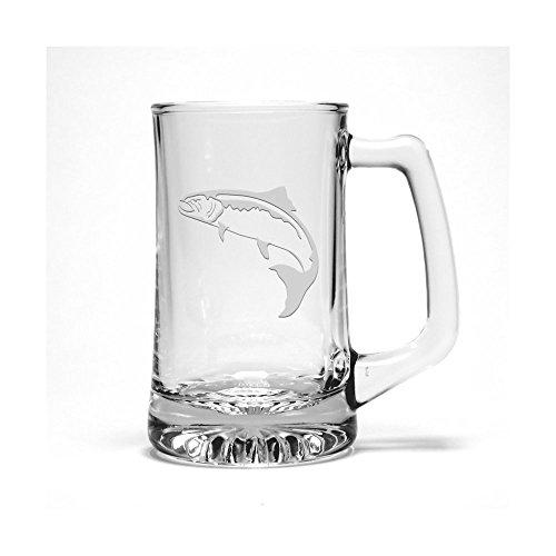 Salmon Etched Beer Mug