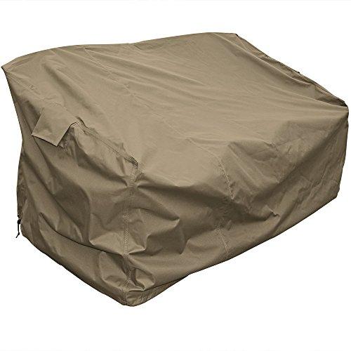 Sunnydaze Protective Outdoor Patio Sofa Lounge Cover, Weather Resistant, Khaki by Sunnydaze Decor