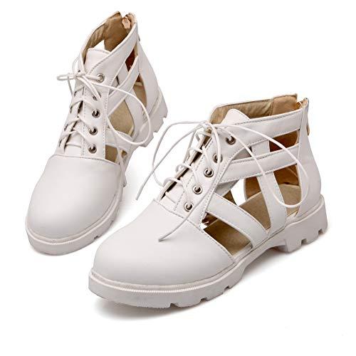 AdeeSu 36 SDC05634 Blanc Blanc Femme 5 Sandales Compensées EU wgqwv6