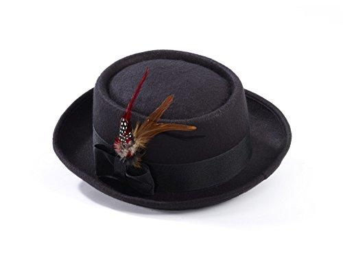 Forum Men's Novelty Deluxe Pork Pie Hat, Multi, One (Mobster Hat)