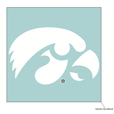 WinCraft NCAA University of Iowa Hawkeyes 6 x 6 inch White Decal : Sports & Outdoors
