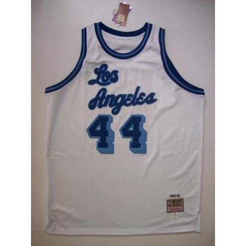 various colors eaf50 69be9 cheap Jerry West Autographed Jersey - PSA/DNA Certified ...