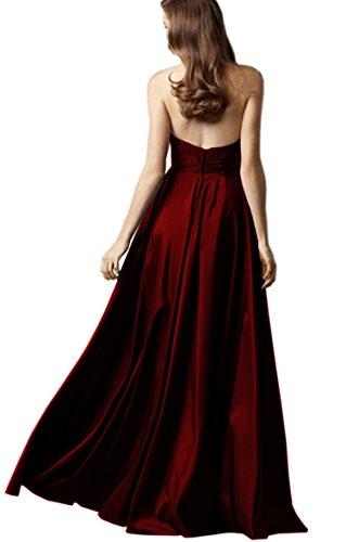 Ikerenwedding - Vestido - trapecio - para mujer Rosso