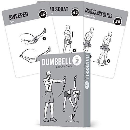 Exercise Cards Dumbbell Vol. 2 Home Gym Workouts Strength Training