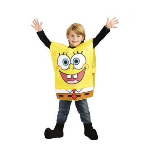 [Rubies Boys Spongebob Squarepants Costume M (8)] (Spongebob Squarepants Child Costumes)