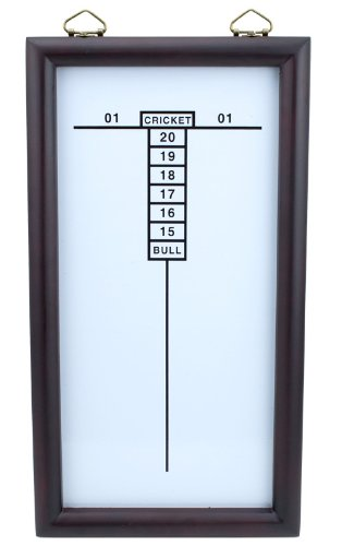 Triple Out Darts White Dry Erase Cricketeer Scoreboard by Triple Out Darts