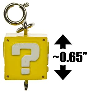 "New Super Mario Bros Wii Zipper Pull-Charm Series-0.625"" Question Block"