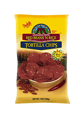 Plocky's Tortilla Chips, Red Beans 'N Rice, 7-Ounce Bags (Pack of 12) (Tortilla Chips Plockys)