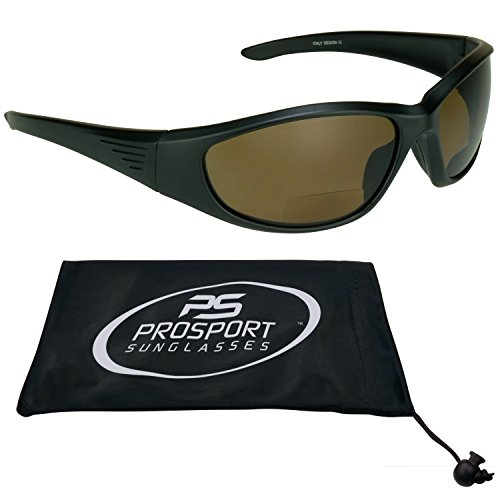 Polarized Bifocal Sunglasses for Men and Women. Premium TAC Polarized Lenses and Sporty Wraparound Frame. Overdrive (Brown with Black, - Overdrive Sunglasses
