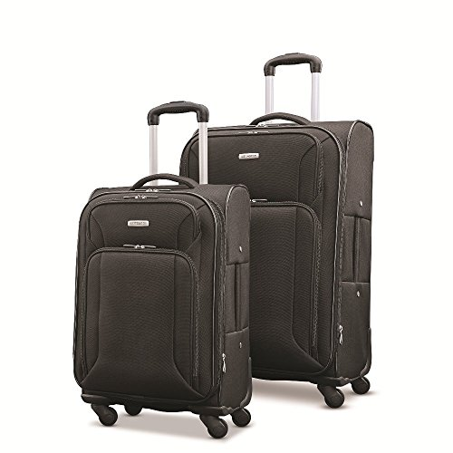 "Samsonite Victory 2 Piece Nested Softside Set (21""/25""), Black, Only at Amazon"