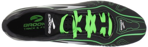 Brooks Qw-k - Zapatillas de correr de material sintético unisex negro - Schwarz (Black/Green)
