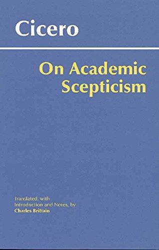 On Academic Scepticism (Hackett Classics)