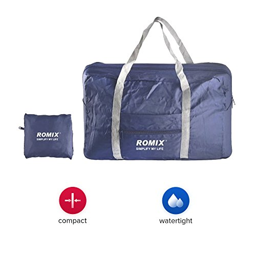 Travel Bag Romix, Waterproof Handbags, Traveling Bag, Best Travel Bag for Men, Women, Sports Bags- Dark Blue