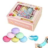 simuer Macaroon Slime Kit, 8PCS Putty Slime Crystal Mud Jelly Clay Slime Soft Pudding Stress Relief Toys for Kids Adults Party Games DIY Gift 8Colors