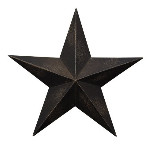 (CWI Gifts Barn Star Wall Decor, 8-Inch,Antique Black)