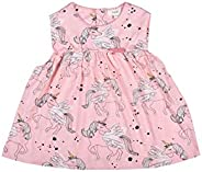 Happier Baby Girls | Toddlers | Cotton Dress | Pink | Unicorns