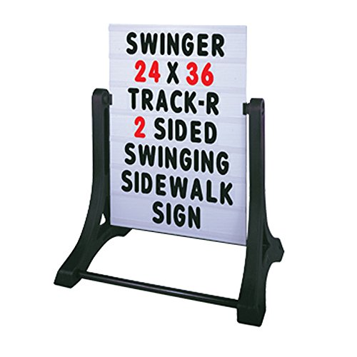 """(Standard 32""""x42"""" White 2 Sided Changeable Message Board Swinger Sidewalk Curb Sign with Letters)"""