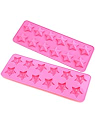 Silicone Bakeware Mold For cake, chocolate, Jelly, Pudding, Dessert Molds, 12 Holes With star Shape