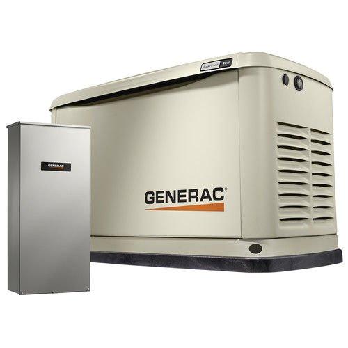 Generac 7030 Guardian Series 9kW/8kW Air Cooled Home Standby Generator with 16 Circuit 100 Amp Transfer (Generac Natural Gas Generators)