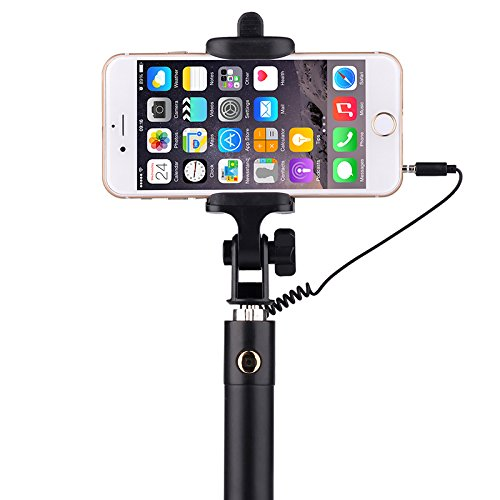 selfie stick yoyamo wired selfie stick for iphone 6s 6s plus 6 6 plus 5s galaxys7 galaxy s7. Black Bedroom Furniture Sets. Home Design Ideas