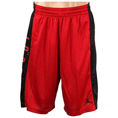 Nike Mens Jordan Highlight Basketball Shorts Gym Red/Black 657722-687 Size X-Large