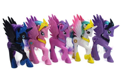 g 5Pcs My Little Pony Friendship Horse magic princess Luna Princess Celestia Toy