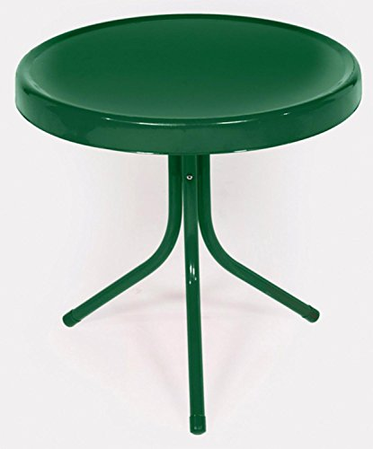 Rich Pacific 91431 Hunter Green Retro Metal Tulip Side Table by Rich Pacific