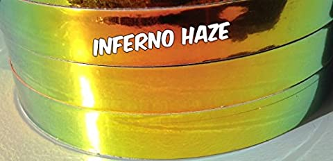 3/4 inch Inferno Haze Metallic Hula Hoop Tape You Choose the Roll Length (15 ft)