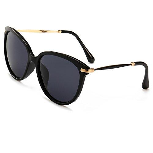 Women's Polarized Sunglasses Cat Eye Sunglasses Aviator Wayfarer Sunglasses Case (black, As Picture) by Fuzhao