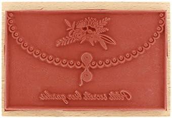 7 x 10 x 2,5 cm Floril/èges Design FG117031 Tampon Bois