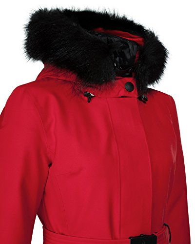 Moncler Laplance Women s Fur Hood Winter Jacket Color - Dark Red ... c09674954