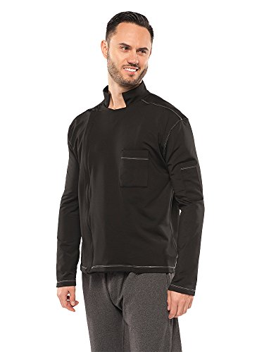 Chefletics ''Alfredo'' Chef Coat (2X-Large, black) by Chefletics