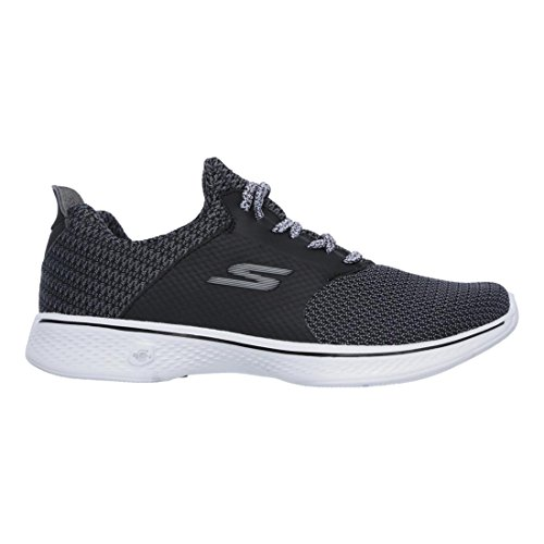 Femme Formateurs sustain Skechers Go 4 Walk Black White Suede tqwXtIZ